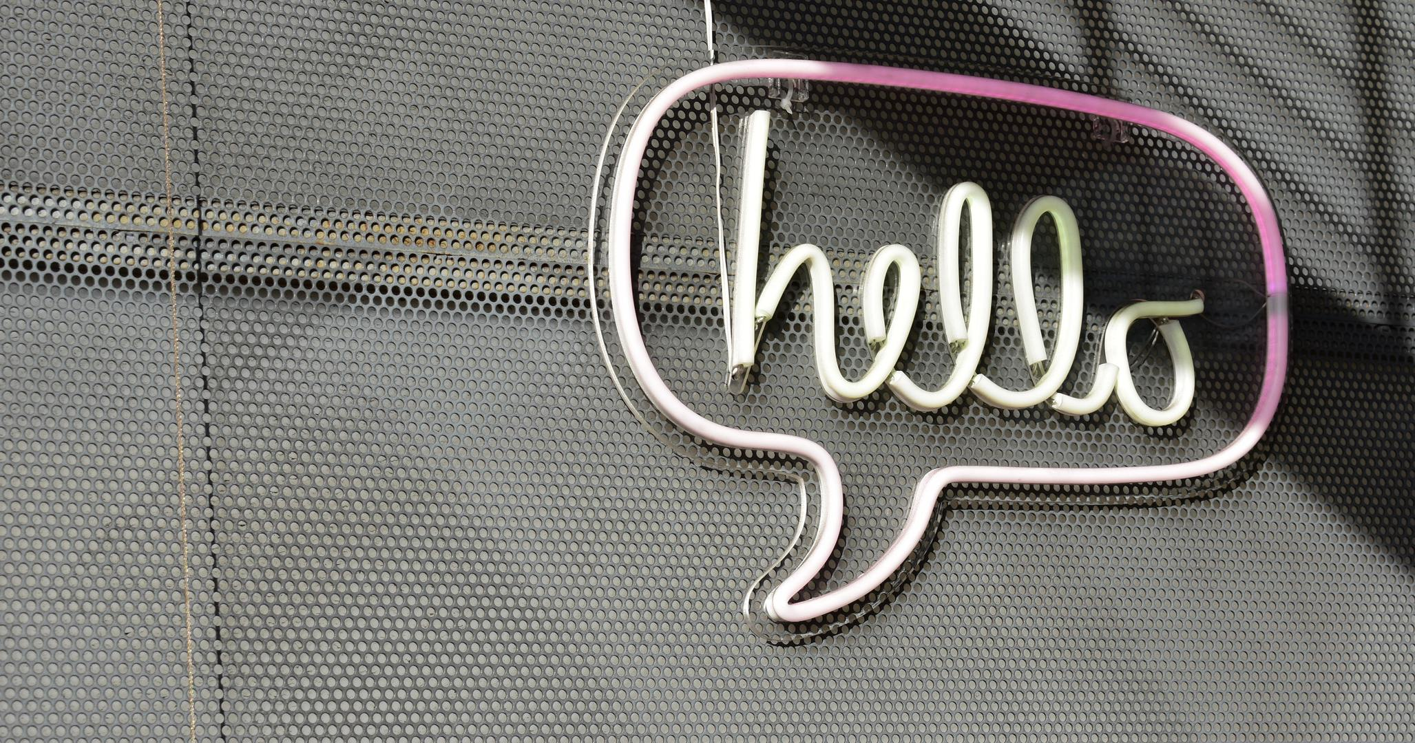 a hello chat bubble representing email automation