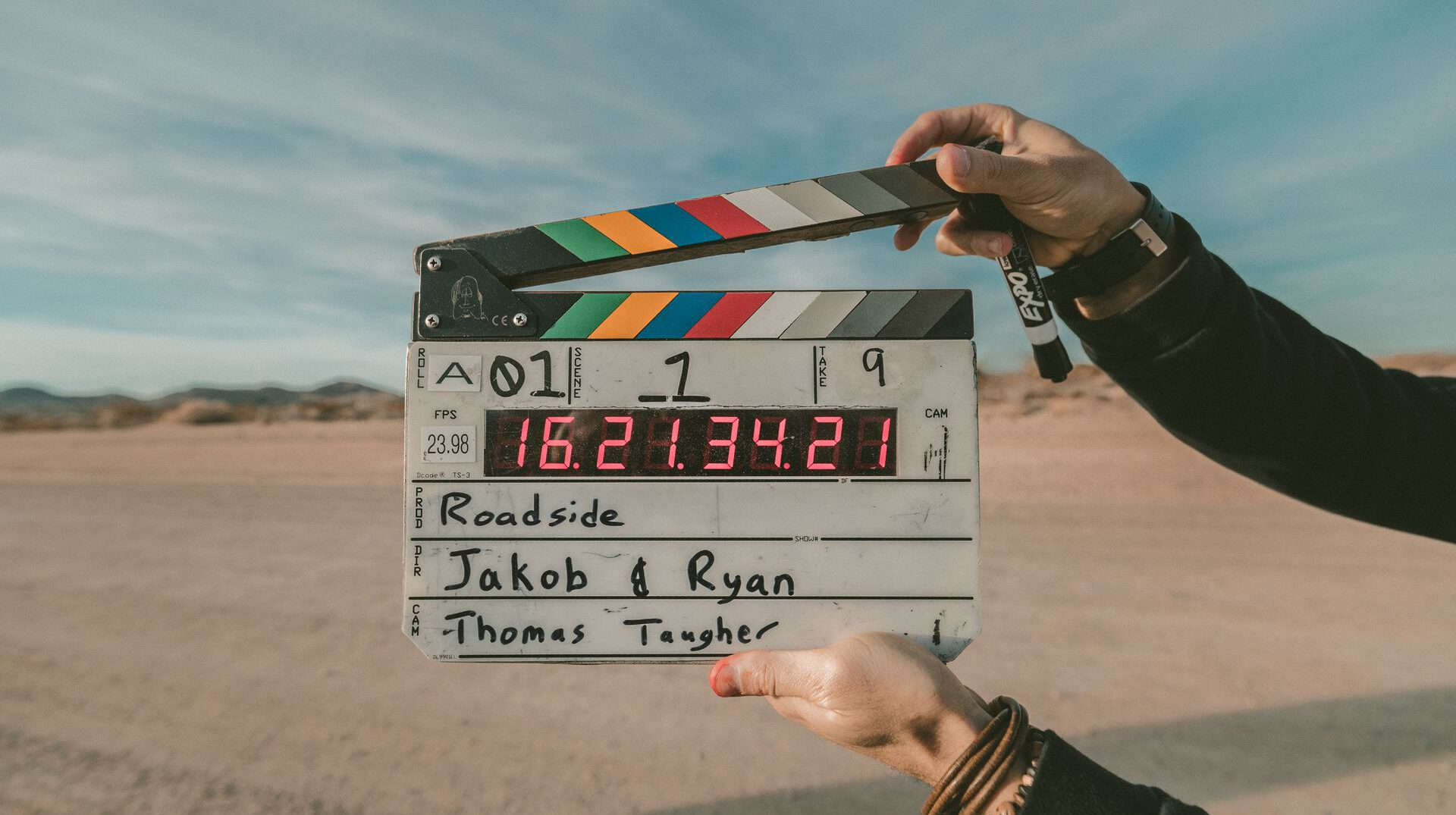 Recording a video.